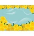 dandelions blue background vector image vector image