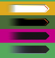 digital style arrow banners vector image vector image