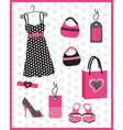 Dress card with dots vector | Price: 1 Credit (USD $1)