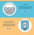 dry skin care concept flyer templates in line vector image