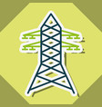 electric tower power energy sticker vector image
