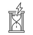 energy of time icon outline style vector image vector image