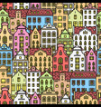 europe house or apartments seamless pattern cute vector image vector image