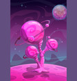 fantasy alien plant another world concept vector image