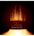 Fire flame on black background with Text space vector image