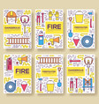 flat firefighter uniform brochure cards vector image vector image