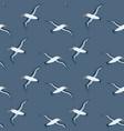 flying albatross seamless pattern vector image