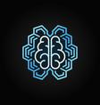 geometric digital brain bright line icon vector image