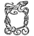 giant octopus vector image