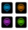 glowing neon speech bubble chat icon isolated on vector image vector image