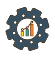 graphic chart icon vector image vector image