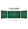 green chalkboard classic empty study vector image