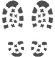 grunge bootprints vector image vector image