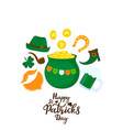 happy st patricks day banner a pot of gold a vector image vector image