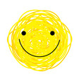 icon cheerful yellow smiley vector image vector image
