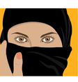 image of young pretty woman with shawl vector image vector image