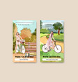 instagram template with world car free day vector image vector image