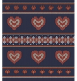 Jacquard pattern with red hearts vector image vector image