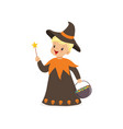 little boy dressed as a wizard cute kid in vector image vector image