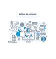 media planning digital marketing advertising vector image vector image