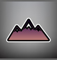 mountain sign violet vector image vector image