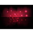 musical abstract background with equalizer notes vector image