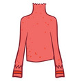 pink jumper on white background vector image vector image