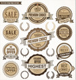 quality retro vintage badge and label collection vector image vector image