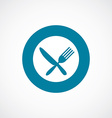 restaurant icon bold blue circle border vector image vector image