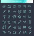 restroom bathroom icon set line style stock vector image
