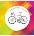 retro road bicycle on colorful background vector image vector image