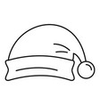 santa hat icon outline style vector image vector image