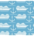 Seamless nautical pattern with ships and anchors vector image vector image