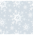 Seamless pattern gray with snowflakes vector image vector image