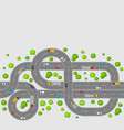 seamless pattern top view of roads vector image vector image