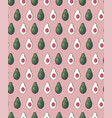 seamless pattern with avocado halves in row on vector image vector image