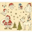 set christmas elements vector image vector image