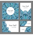 Set ethnic banners with feathers vector image vector image