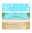 Set of summer beach and sea banner background vector image vector image