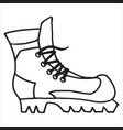 sketch of sneakers with lacing on a white vector image
