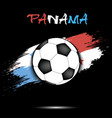 soccer ball and panama flag vector image