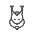 squirrel simple sign vector image vector image