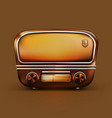 stock realistic retro radio vector image