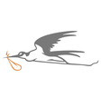 Stork Simple vector image vector image