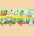 summer vacation horizontal banners vector image vector image