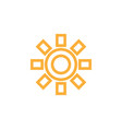sun icon design template isolated vector image vector image