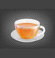 tea cup isolated over black transparent background vector image