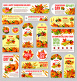 thanksgiving sale tag for discount offer design vector image vector image