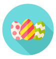 Three Easter Eggs with Decor Circle Icon vector image vector image