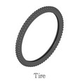 tire bicycle icon isometric 3d style vector image vector image